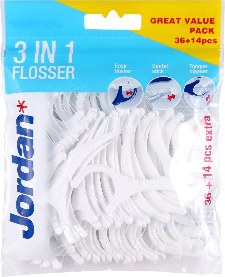 Зубная нить Jordan 3в1 50шт
