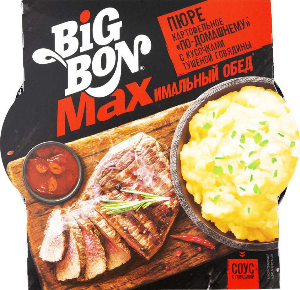 Пюре картофельное Big Bon Max по-домашнему с говядиной 110г