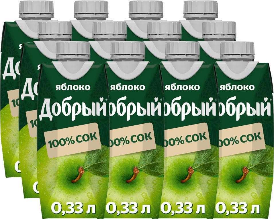 Сок Добрый Яблочный 330мл (упаковка 12 шт.)