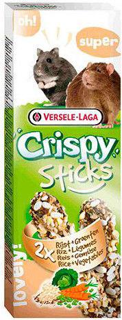Лакомство для грызунов Versele-Laga Crispy палочки с рисом и овощами 2шт*55г
