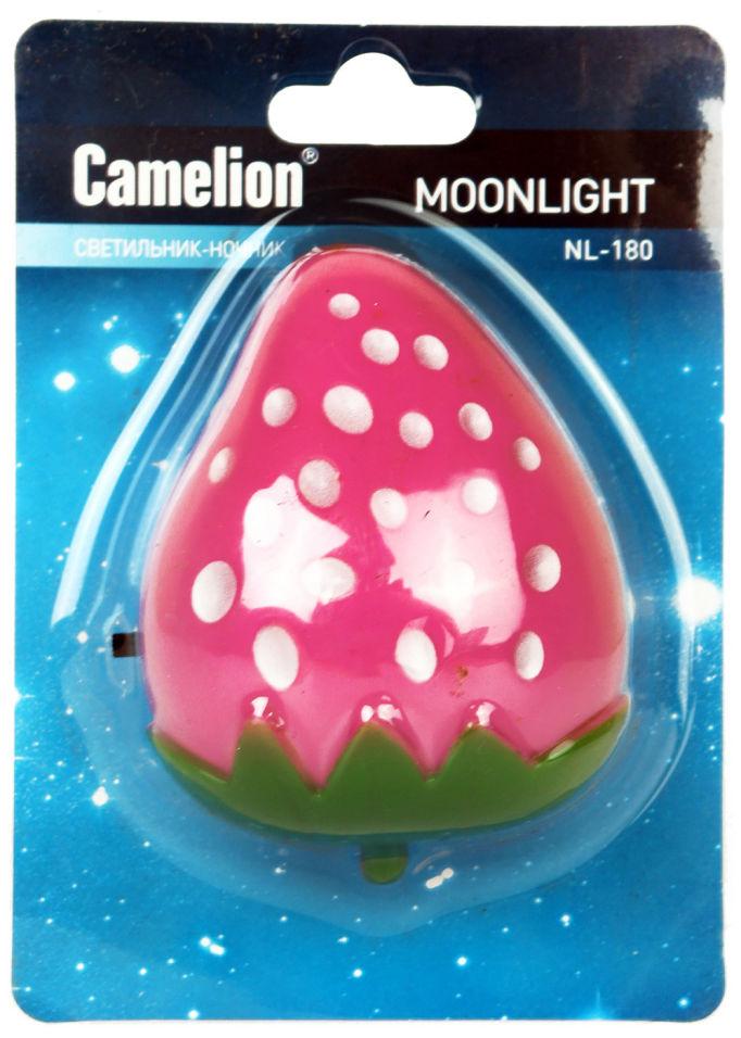 Ночник Camelion NL-180 Клубника LED 220В с выключателем