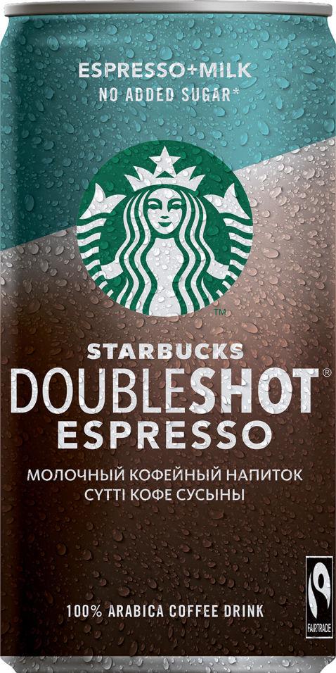 Напиток Starbucks Doubleshot Espresso без сахара 200мл