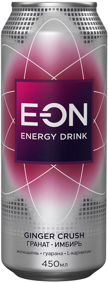Напиток E-ON Ginger Grush энергетический 450мл (упаковка 12 шт.)