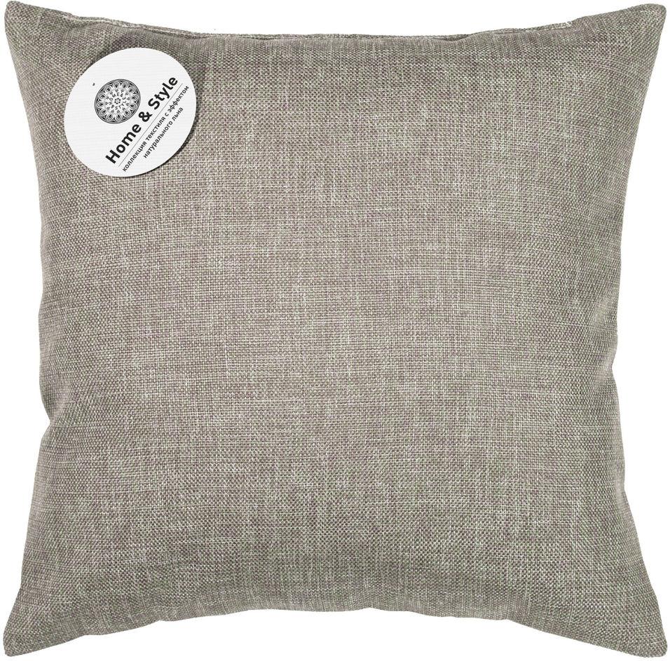 Подушка-думка Home&Style рогожка Какао 40*40см