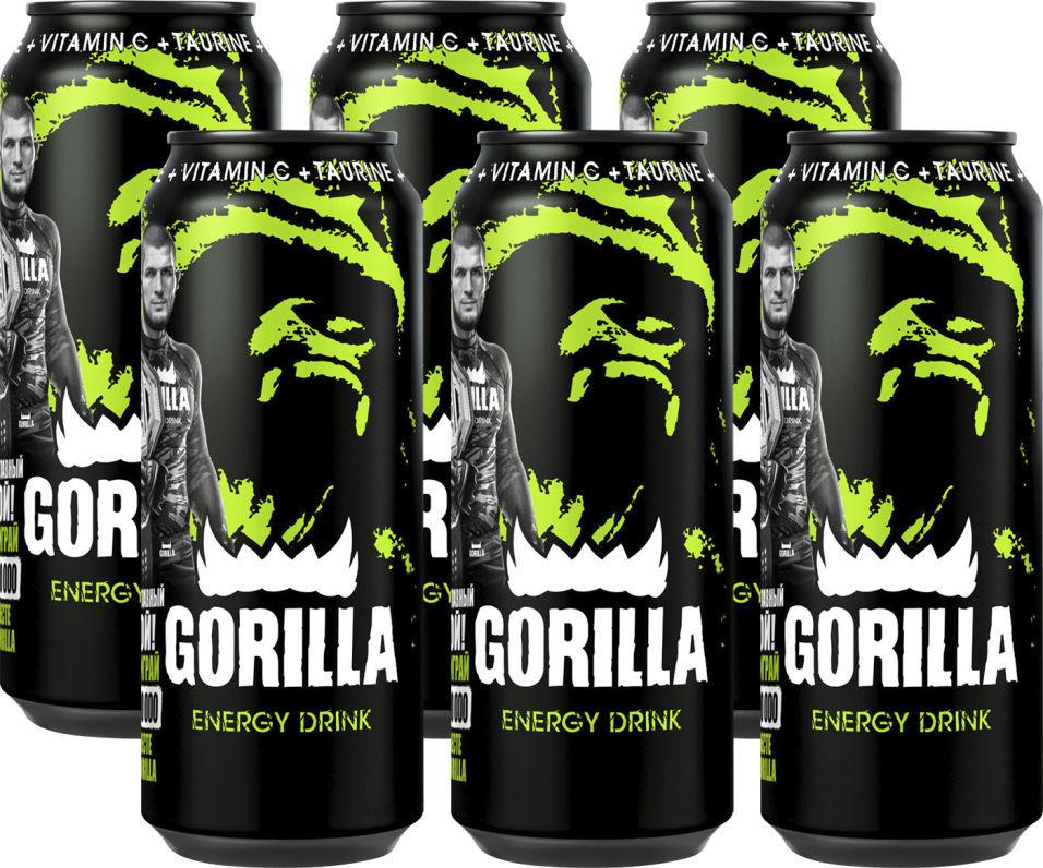 Напиток Gorilla энергетический 450мл (упаковка 6 шт.)