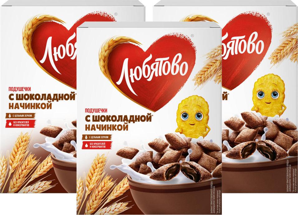 Подушечки Любятово Шоколадные 250г (упаковка 3 шт.)
