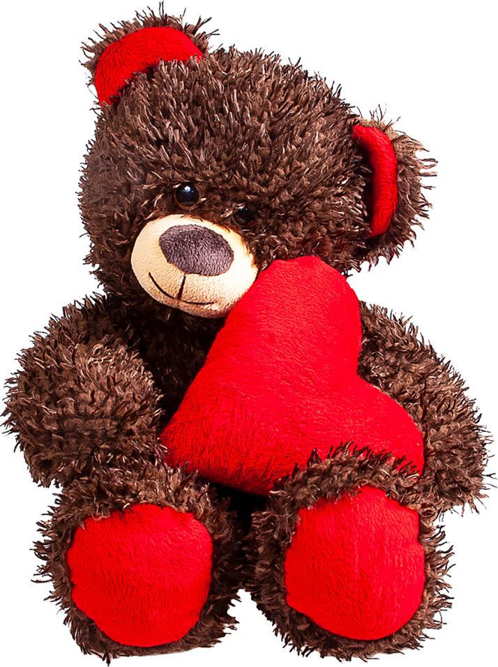 Мягкая игрушка Fancy медведь Чиба с сердцем 28см