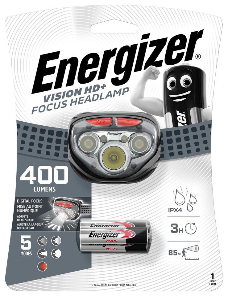 Фонарь Energizer налобный 400 lumens + 3AA