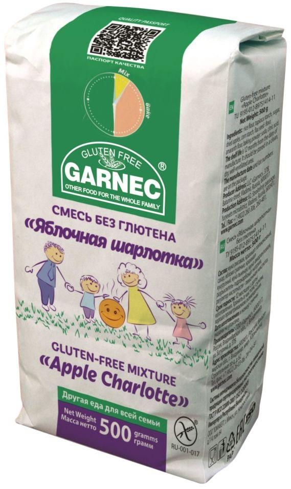 Смесь для выпечки Garnec Яблочная шарлотка без глютена 500г