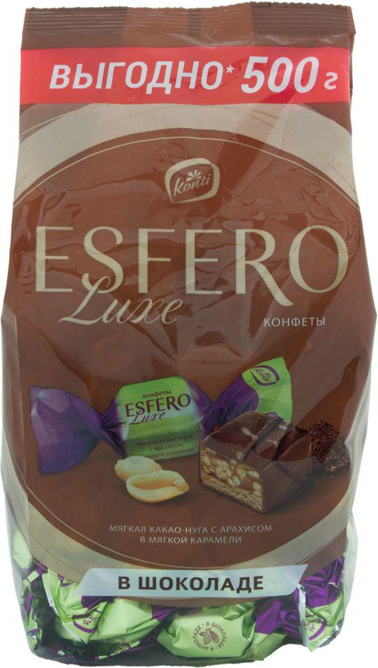 Конфеты Konti Esfero Luxe Мягкая какао-нуга с арахисом 500г