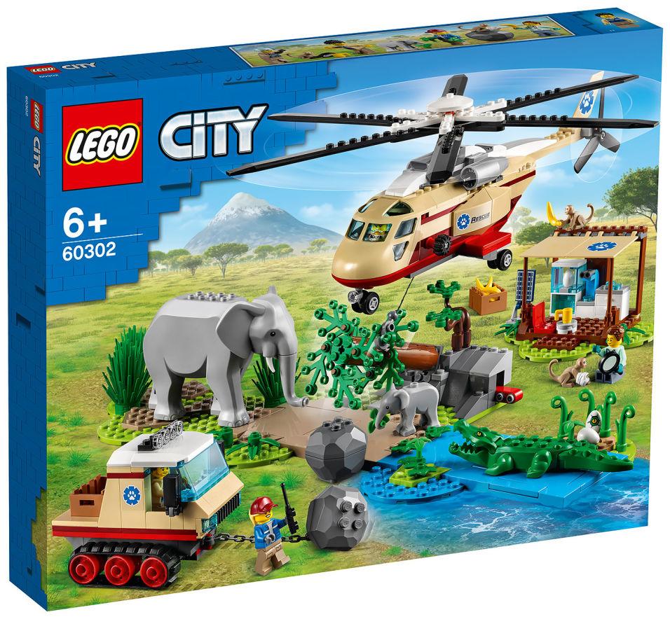 Конструктор LEGO City 60302 Операция по спасению зверей