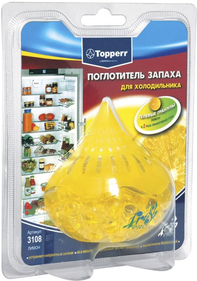 Поглотитель запаха Topperr для холодильника лимон