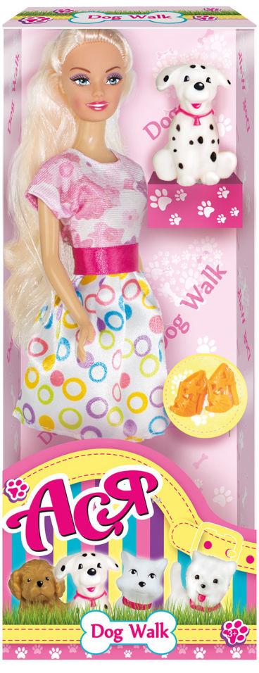 Кукла ToysLab Ася Прогулка со щенком вариант 2 28см