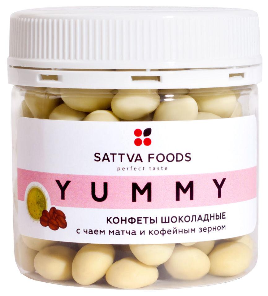 Конфеты Sattva Food Шоколадные с чаем матча и кофейным зерном 100г