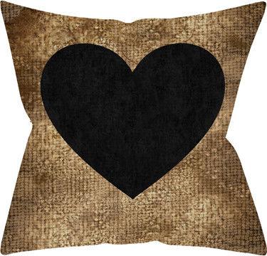 Подушка декоративная Золото и черное сердце 40*40см