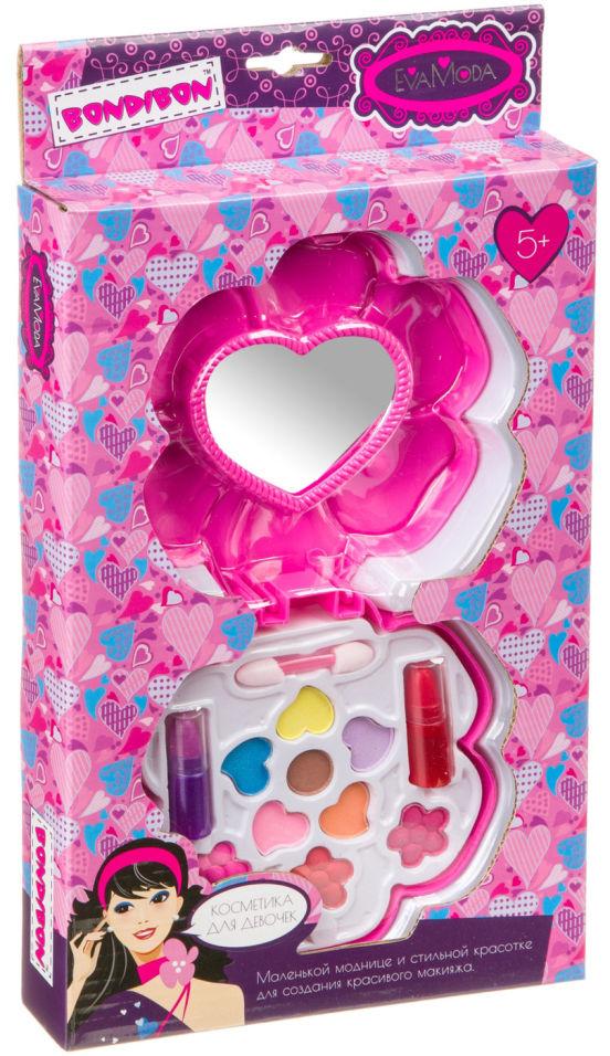 Набор косметики для девочек Вondibon Eva Moda Косметичка-цветок с зеркалом 2