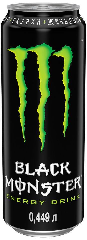Напиток энергетический Black Monster 449мл