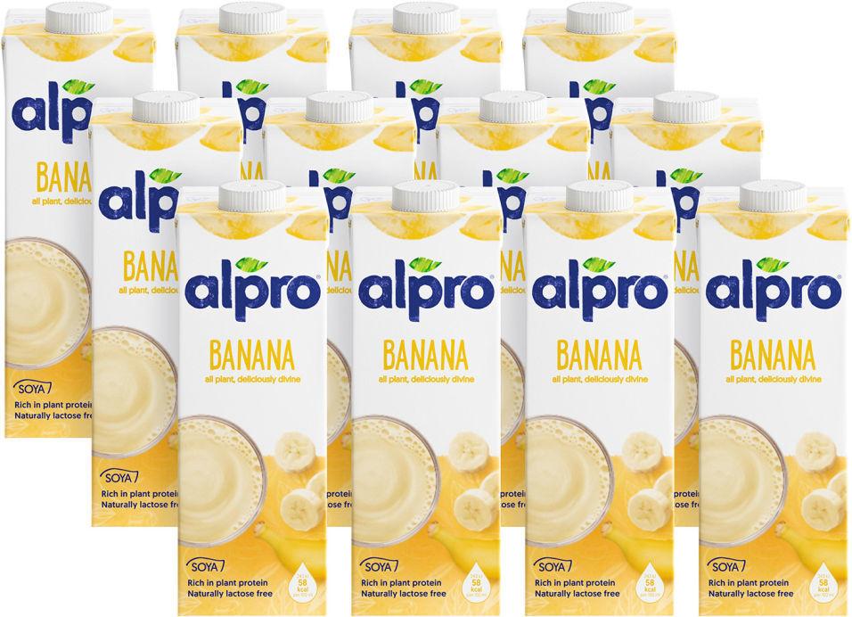 Напиток соевый Alpro Soya Banana 1л (упаковка 12 шт.)
