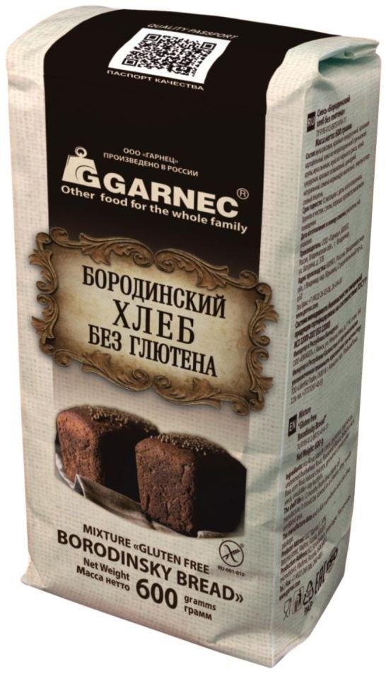 Смесь для выпечки Garnec Бородинский хлеб без глютена 600г