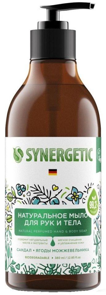 Мыло для рук и тела Synergetic Сандал и ягоды можжевельника 380мл (упаковка 2 шт.)