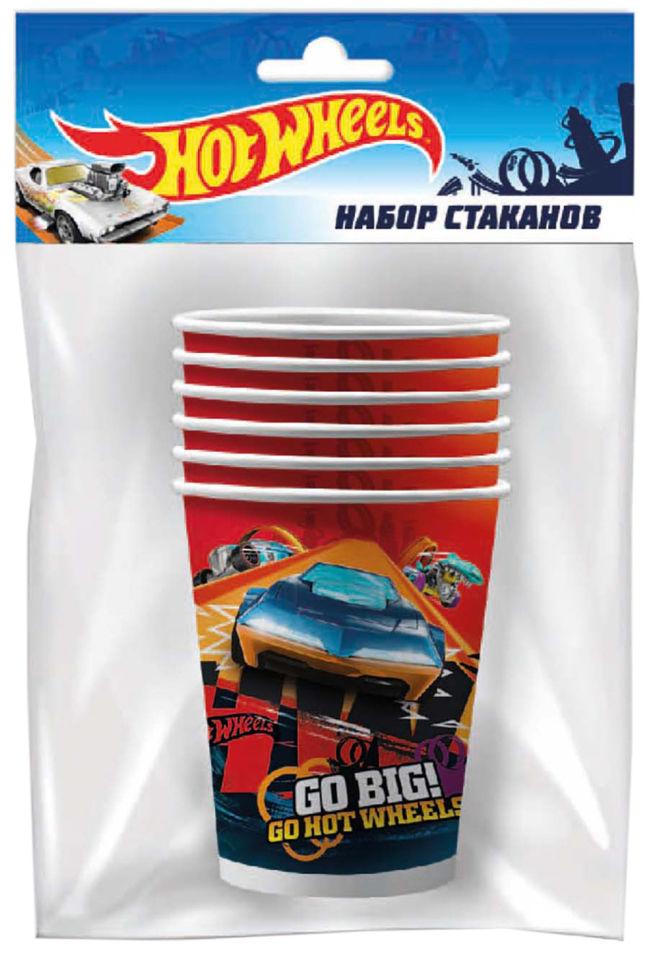 Бумажные стаканы Hot Wheels 250мл 6шт