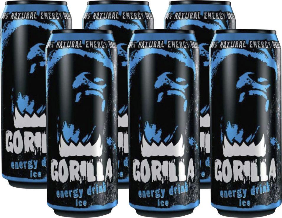Энергетический напиток Gorilla Mint 450мл (упаковка 6 шт.)