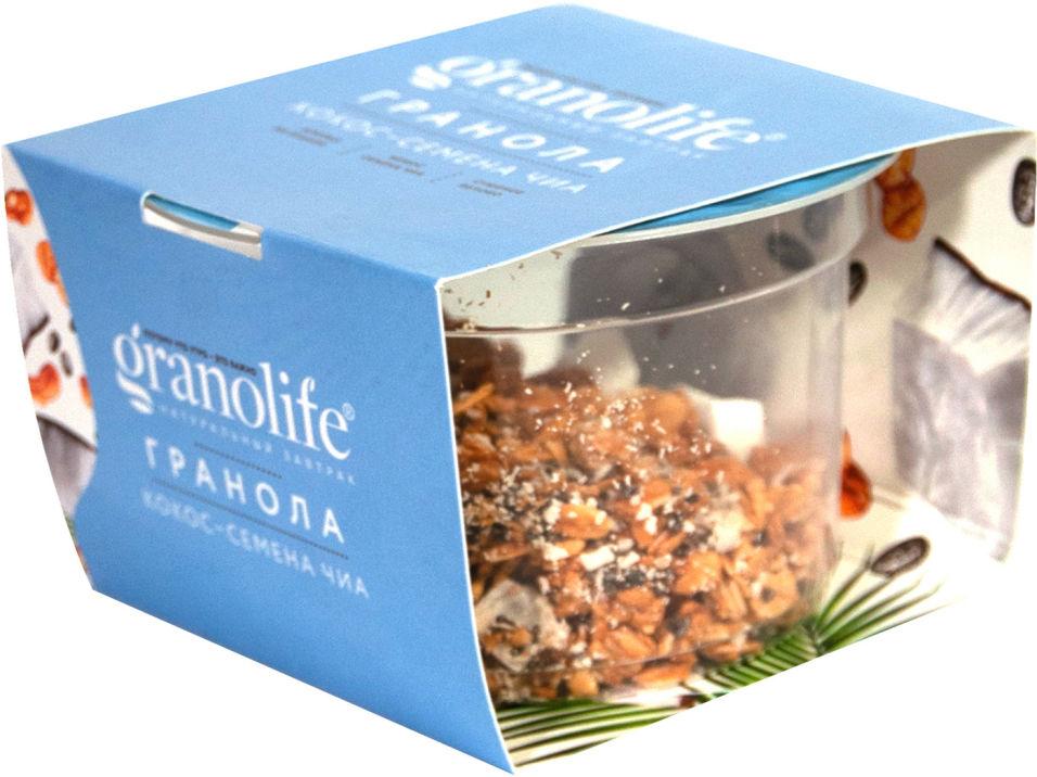 Гранола Granolife Кокос-Семена чиа 60г