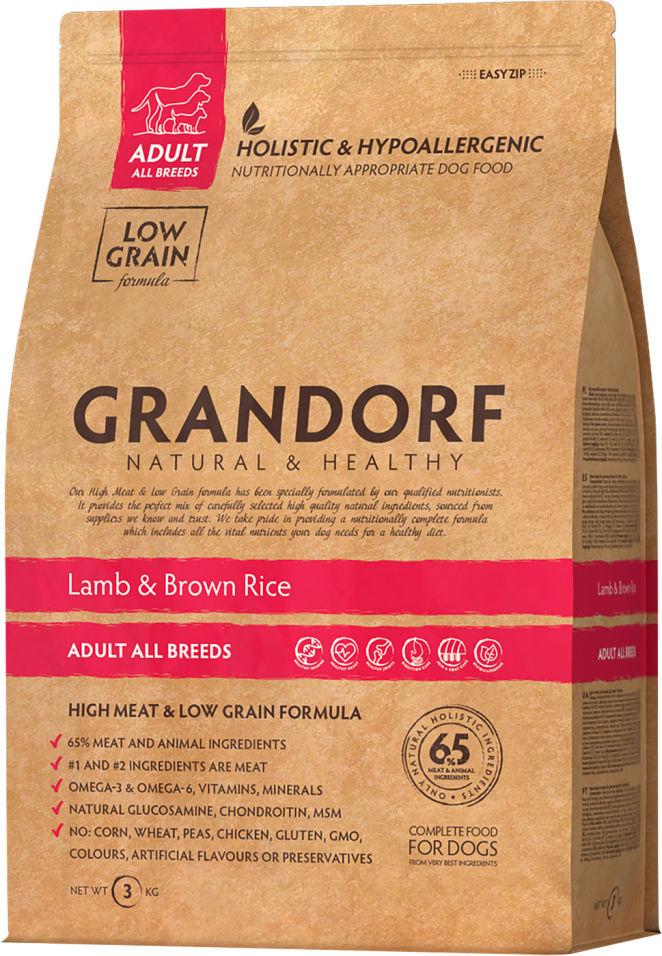 Сухой корм для собак Grandorf Adult all Ягненок с рисом 3кг