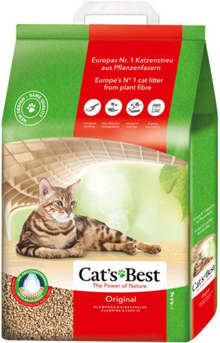 Наполнитель для кошачьего туалета Cats Best Original древесный 20л