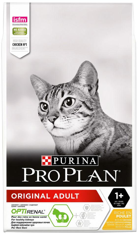 Сухой корм для кошек Pro Plan Original Adult с курицей 10кг