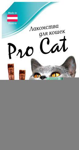 Лакомство для кошек Pro Cat Лакомые палочки Лосось форель 13.5см 15г