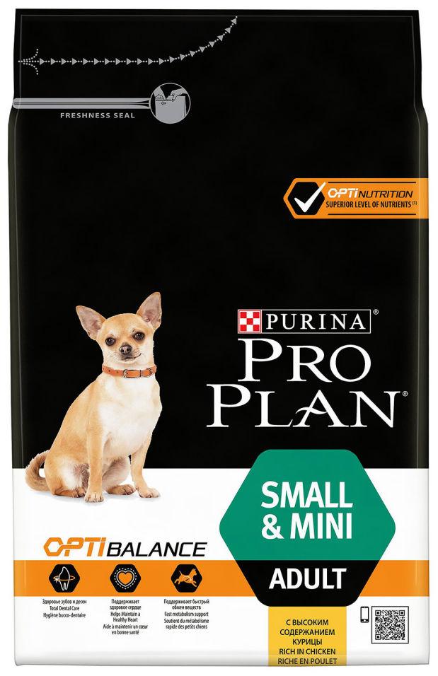 Сухой корм для собак Pro Plan Optibalance Small&Mini Adult с курицей и рисом 3кг