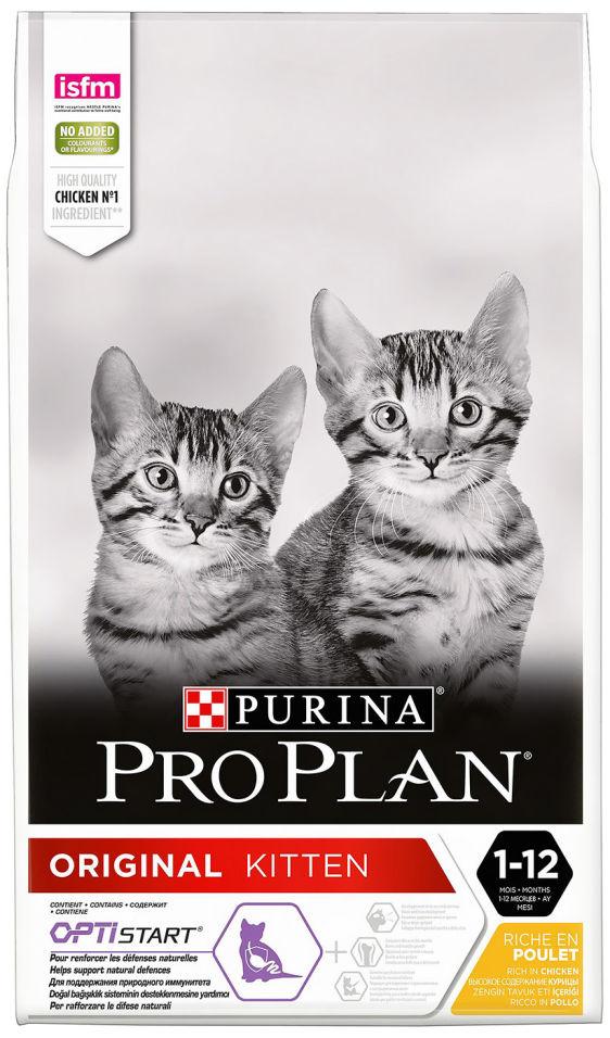 Отзывы о Сухом корме для котят Purina Pro Plan Original Kitten с курицей 10кг