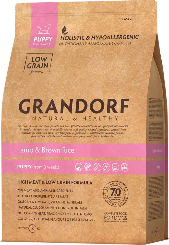 Сухой корм для собак Grandorf Puppy Ягненок с рисом 3кг