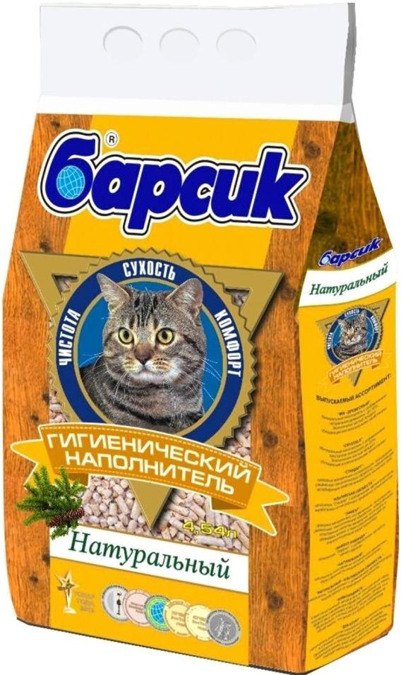 Наполнитель для кошачьего туалета Барсик Кукурузный впитывающий 4.54л