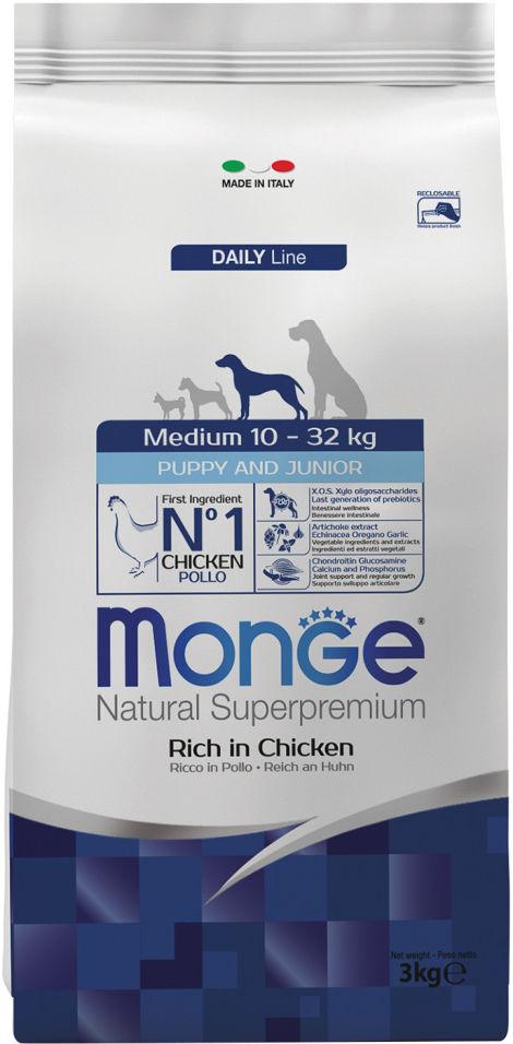 Корм для щенков Monge Dog Medium для средних пород 3кг