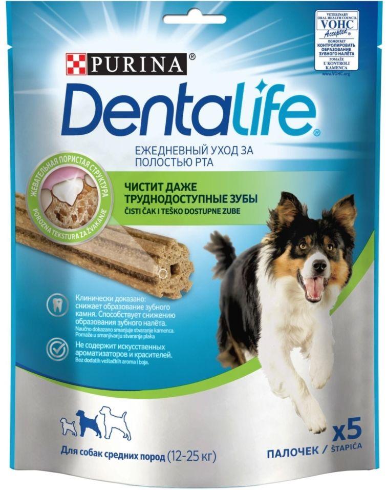 Лакомство для собак DentaLife Medium 115г