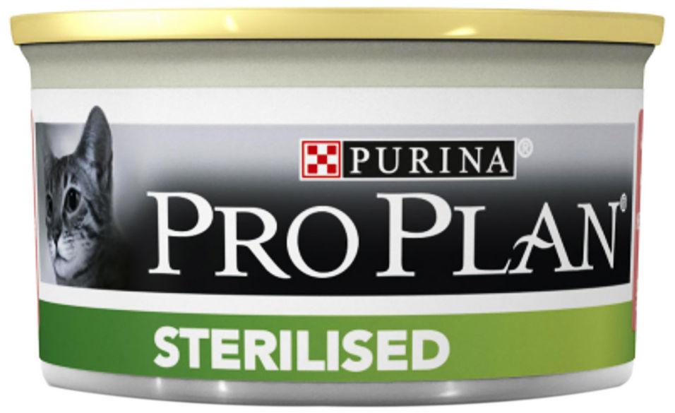 Отзывы о Влажный корм для стерилизованных кошек Pro Plan Sterilised паштет с тунцом и лососем 85г
