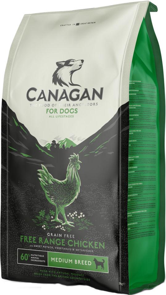 Сухой корм для собак Canagan Free-Run Chicken для всех пород Цыпленок 2кг
