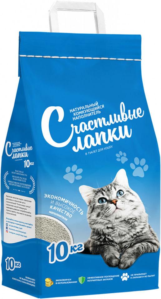 Отзывы о Наполнителе для кошачьего туалета Счастливые Лапки комкующийся 10кг