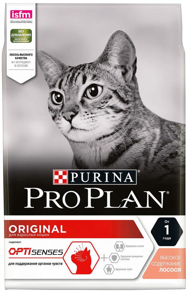 Сухой корм для кошек Pro Plan Original Adult с лососем 3кг