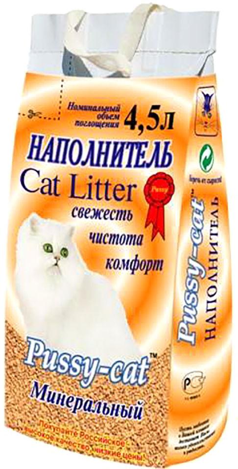 Отзывы о Наполнителе для кошачьего туалета Pussy-Cat Минеральный впитывающий 4.5л