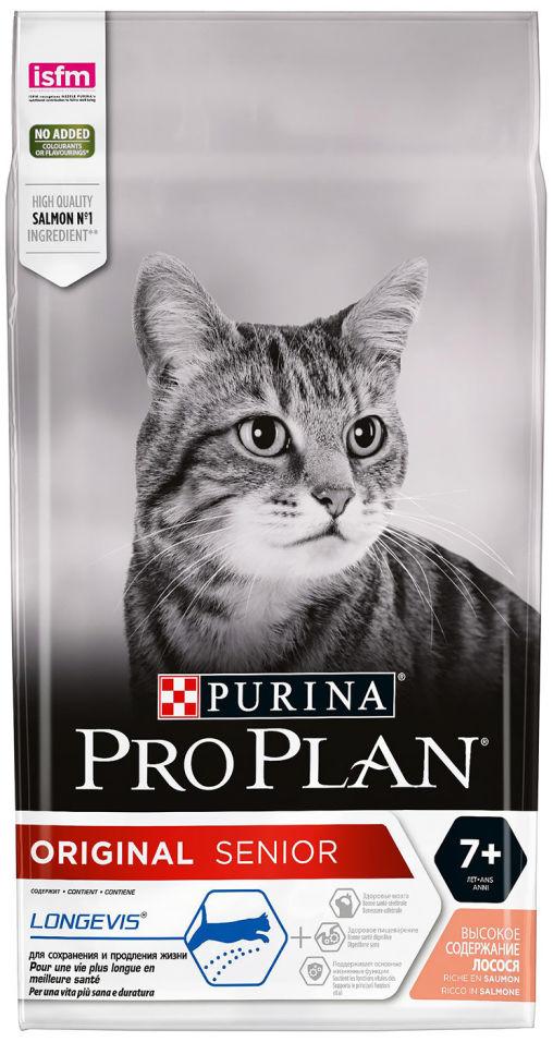 Сухой корм для кошек Pro Plan Adult 7+ с лососем 1.5кг