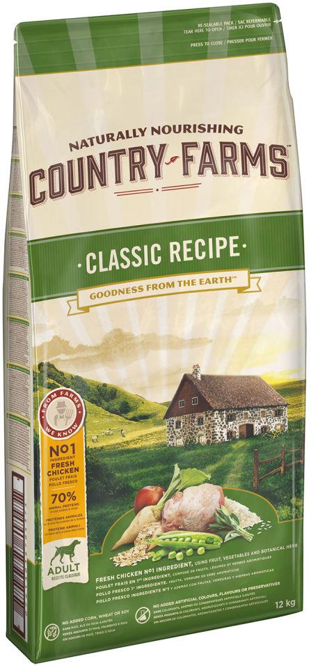 Сухой корм для собак Country Farms Classic Recipe с курицей 12кг