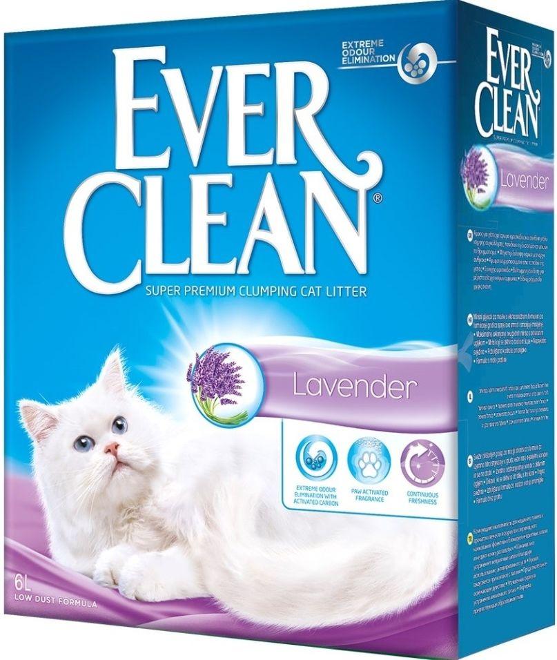 Наполнитель для кошачьего туалета Ever Clean Lavender с ароматом лаванды 6л