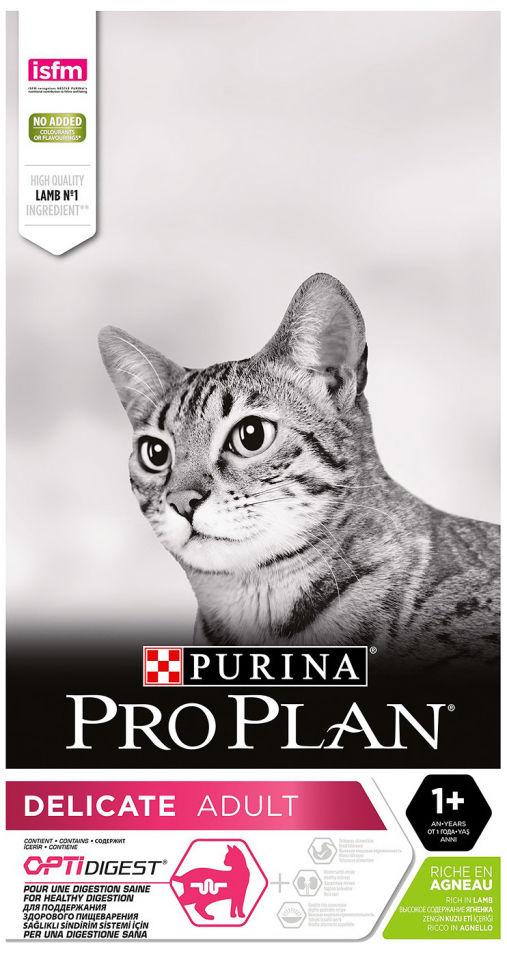 Сухой корм для кошек Pro Plan Optirenal Delicate с ягненком 10кг