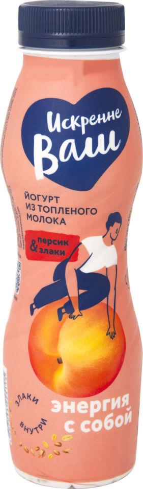 Отзывы о Йогурт Искренне Ваш Персик-злаки 3.5% 280г
