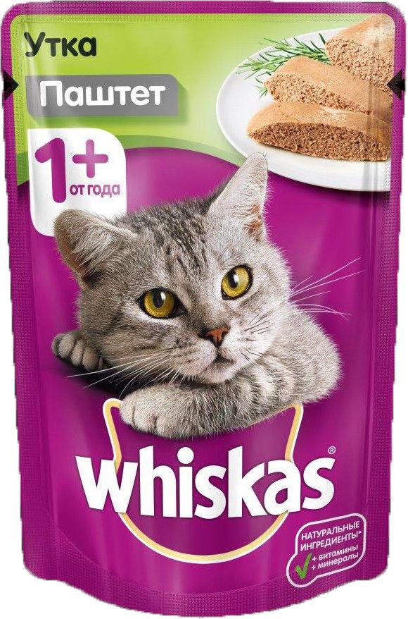 Корм для кошек Whiskas Паштет с уткой 85г
