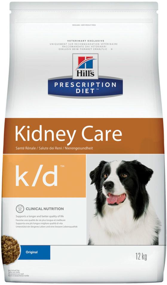 Сухой корм для собак Hills Prescription Diet при заболеваниях почек 12кг