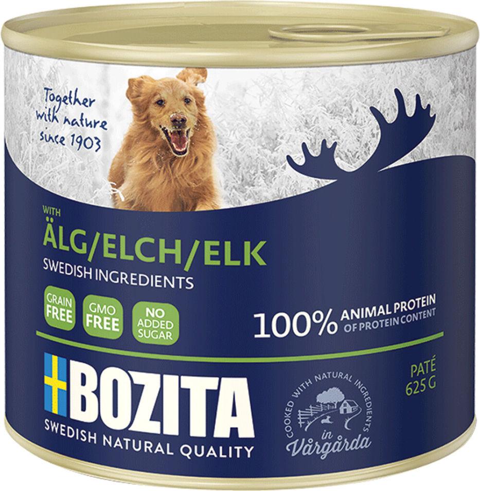 Корм для собак Bozita Elk мясной паштет с лосем 625г